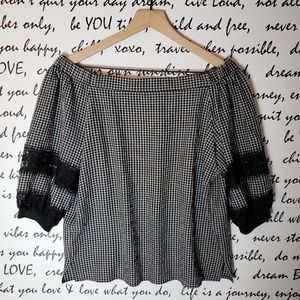Gizzly Off The Shoulder Gingham Top